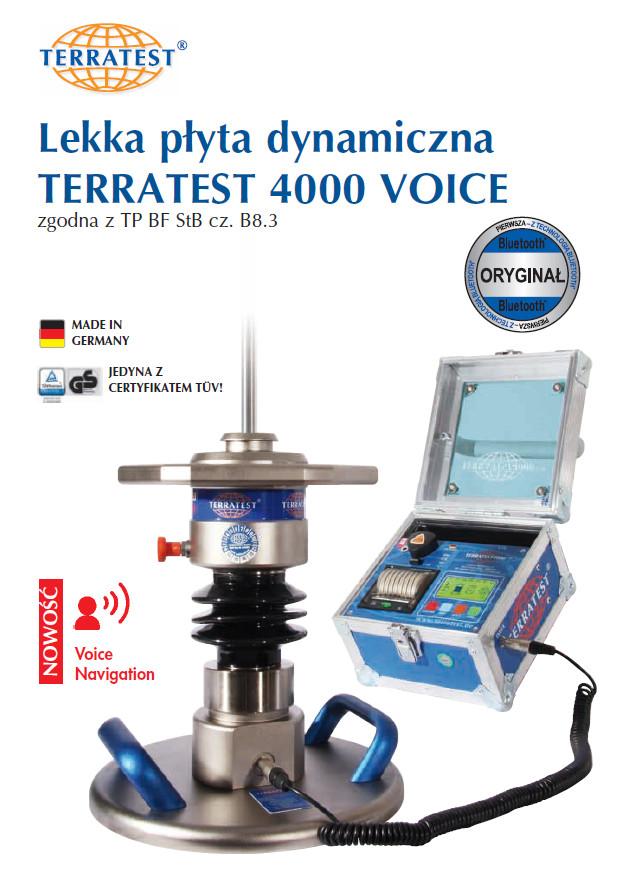 Lekka Plyta Dynaiczna TERRATEST4000 Voice PDF
